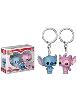 Pop! Keychain: Lilo & Stitch 2 Pack- Stitch and Angel