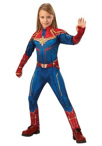 Captain Marvel Deluxe Kids Costume