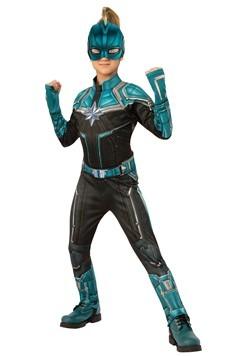 Captain Marvel Kree Suit Deluxe Kids Costume Alt 1