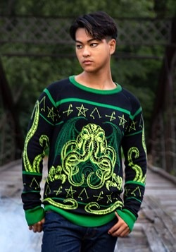 Rage of Cthulhu Adult Ugly Halloween Sweater 1