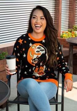 Vintage Halloween Cat Ugly Halloween Sweater 1