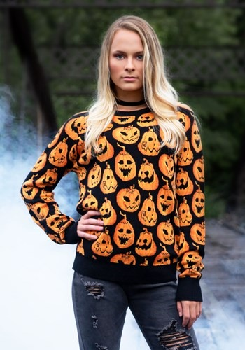 Pumpkin Frenzy Ugly Halloween Sweater 1