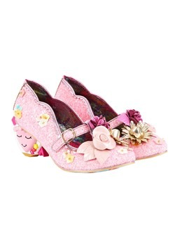 Irregular Choice 'Amare' Pink Floral Heart Shaped