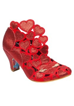 Irregular Choice 'Meile' Cut Out Hearts Red High Heels