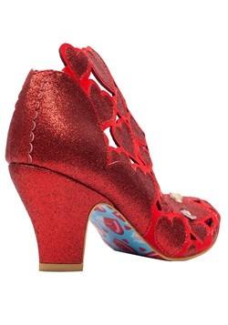 Irregular Choice 'Meile' Cut Out Hearts Red High Heels Alt2