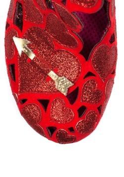Irregular Choice 'Meile' Cut Out Hearts Red High Heels Alt3