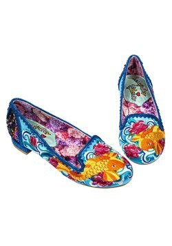 Irregular Choice 'Pescado Orp' Koi Fish Blue Satin Flats