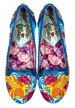 Irregular Choice 'Pescado Orp' Koi Fish Blue Satin Flats Alt