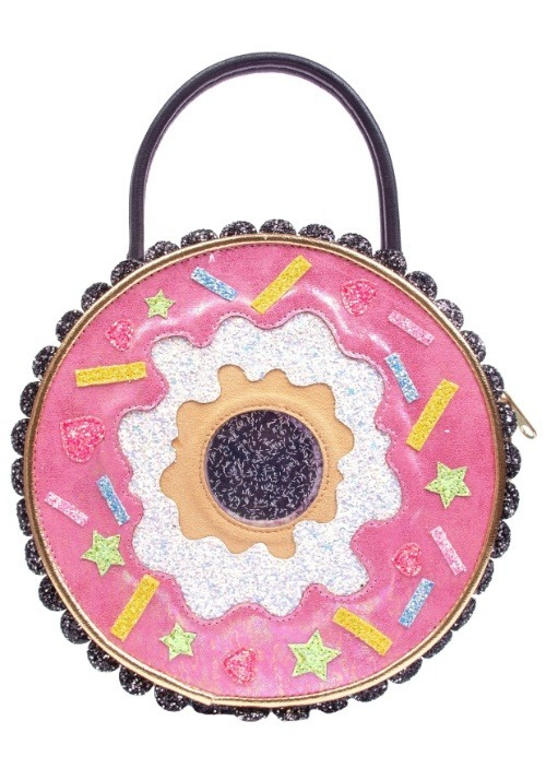 Irregular Choice Donut Worry Pink & White Handbag alt1