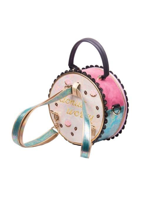 Irregular Choice Donut Worry Pink & White Handbag alt4