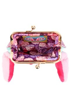 Irregular Choice Bella Bunny Mint/Pink Coin Purse2