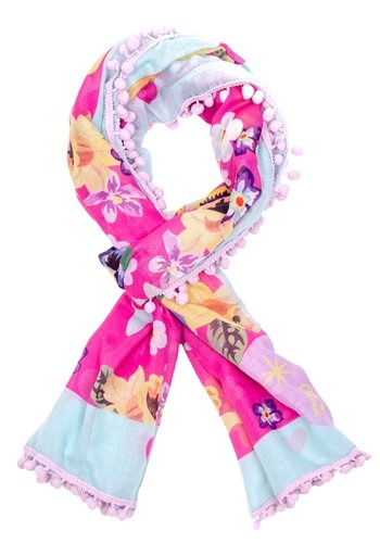 Irregular Choice Mau Cat Print Pom Pom Parade Scarf