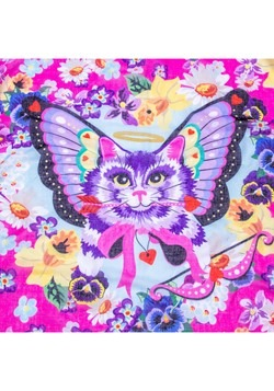 Irregular Choice Mau Cat Print Pom Pom Parade Scarf2