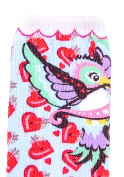 Irregular Choice Women's Cupid Bird Print Socks2