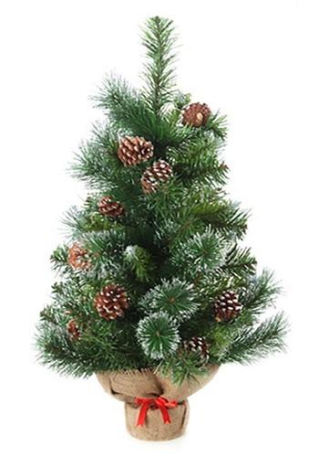 Mini Christmas Tree in Burlap 18inches