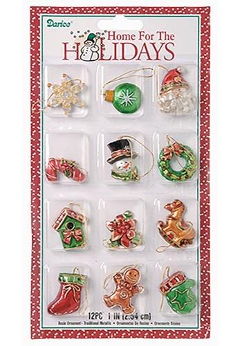 "Mini 1-1/2"" Traditional Resin Ornament Set"