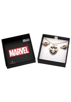 Captain Marvel Necklace Earring Set Alt2
