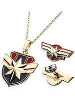 Captain Marvel Necklace Earring Set Alt1