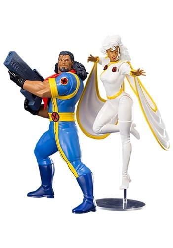 X-Men 1992 Bishop & Storm Two-Pack ArtFX+ Statue