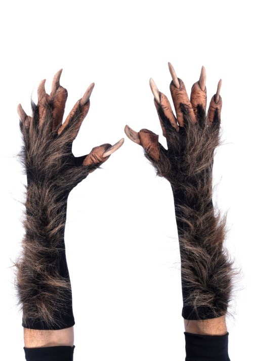 Brown Wolf Gloves
