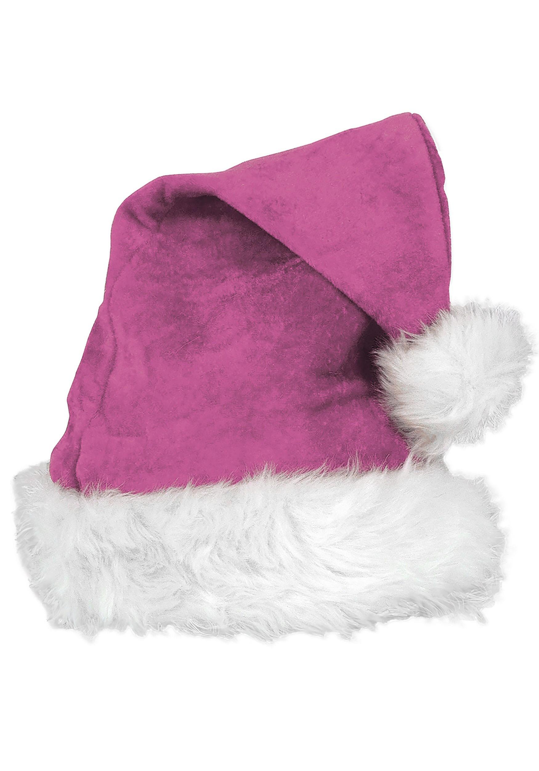 Pink_Deluxe_Velvet_Santa_Hat