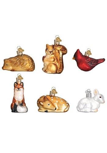 Mini Woodland Animals Ornament Set