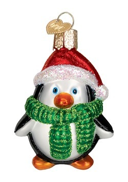 Playful Penguin Glass Blown Ornament
