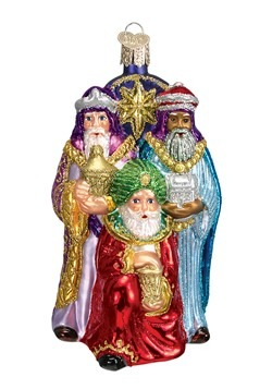 Three Wise Men Glass Blown Ornament
