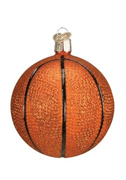 Basketball Glass Blown Ornament