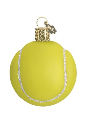 Tennis Ball Glass Blown Hanging Ornament