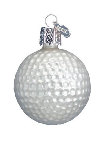 Golf Ball Glass Blown Hanging Ornament