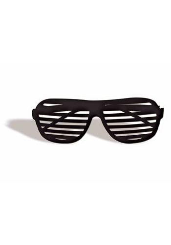 80's Shutter Shades Black