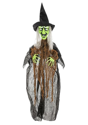 Animatronic Cackling Witch Halloween Decor