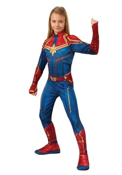 Girl's Captain Marvel Classic Costume