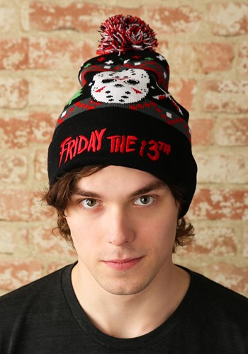 Friday the 13th Ugly Christmas Pom Beanie