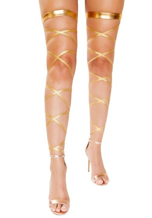 Goddess Gold Leg Wraps