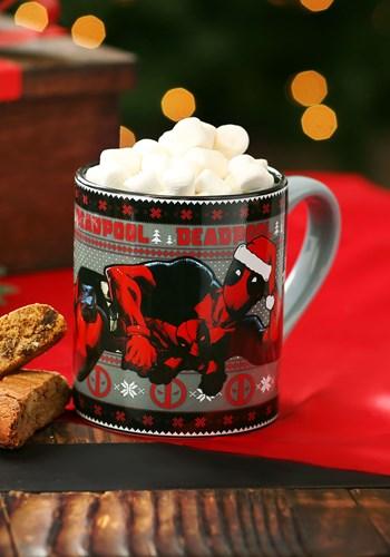 Deadpool Holiday Lounge- 14oz Ceramic Mug1