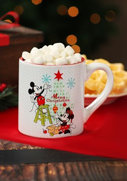 Mickey & Minnie Christmas- 14oz Ceramic Mug