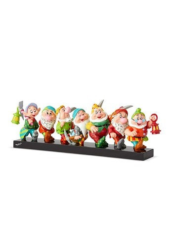 Disney by Britto Seven Dwarfs on Log Statue Collectible