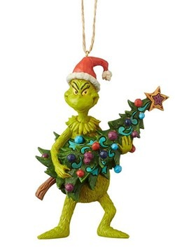 Grinch Holding Tree Jim Shore Ornament