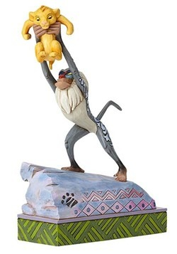 Rafiki and Baby Simba Statue