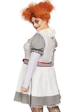 Women's Plus Creepy Clown Costume alt 1