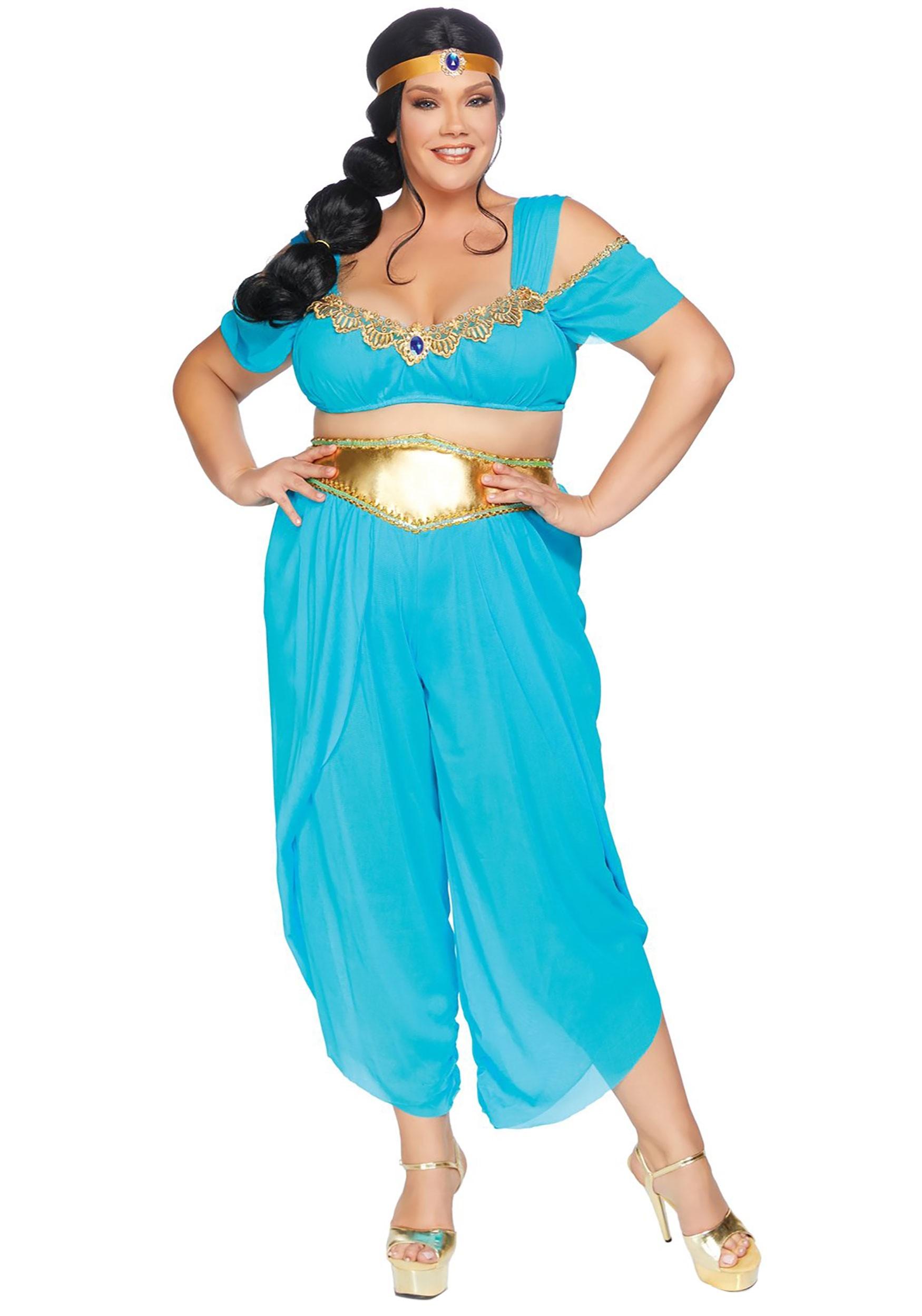 Aladdin Sexy womens plus sexy desert princess costume