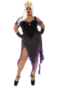 Womens Plus Size Sultry Sea Witch Costume
