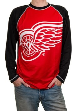 NHL Detroit Red Wings Mens Long Sleeve Rash Guard