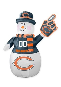 Chicago Bears Inflatable Snowman