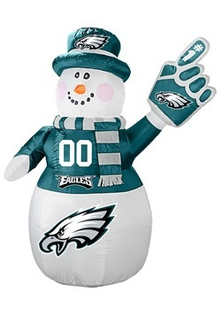 Philadelphia Eagles Inflatable Snowman
