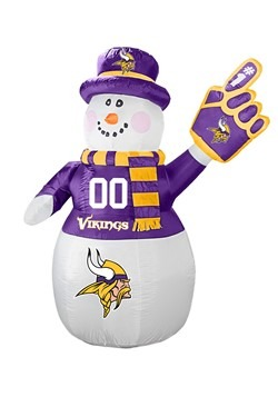 Minnesota Vikings Inflatable Snowman
