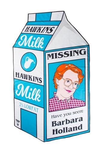 Barb Milk Carton Stranger Things Beach Blanket