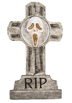 Ghost Face Tombstone Halloween Decor